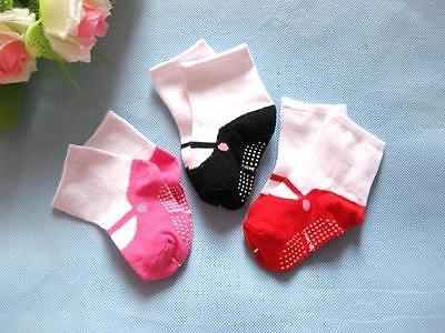 3 Colors Newborn Baby Girl Anti-slip Candy Socks Slipper Shoes Boots 6-24 Months<br><br>Aliexpress