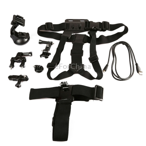 6 In 1 Bike Handlebar Mount + Tripod Mount & Suction Cup + Chest Strap