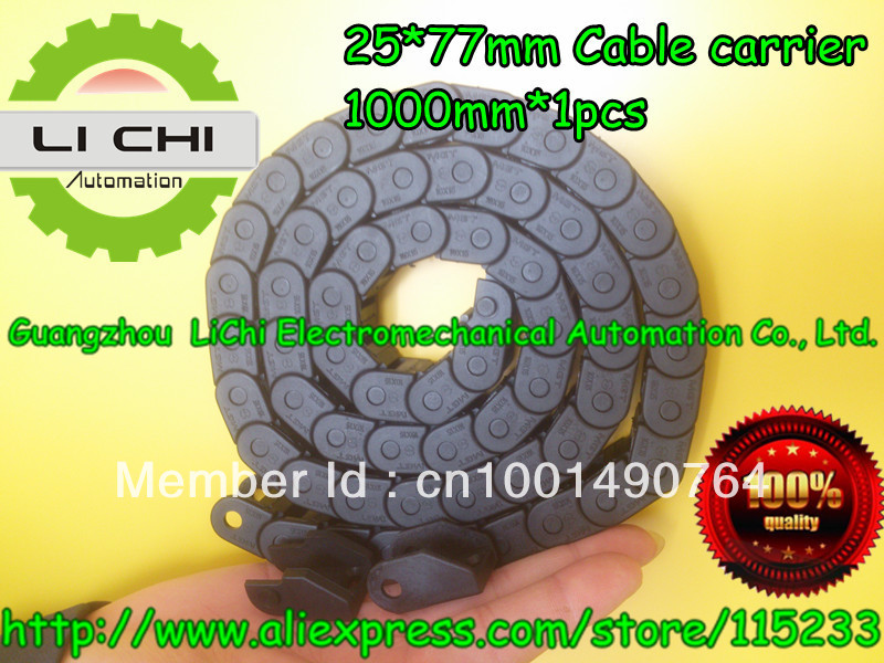 Best price Towline + Cable carrier + nylon Tuolian + Drag Chain + engineering towline + towline cable +25*77-1000mm(China (Mainland))