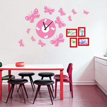 Buy 1 Set 58*72cm Butterfly Wall Decal Creative Clock 3D Home Decoration Mural Stickers Sofa Living Bed Room SA-1-004 for $11.04 in AliExpress store