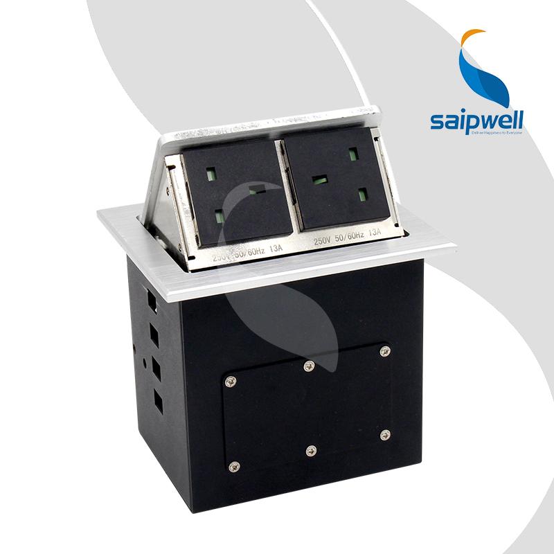 13A 2 Gang English Standard Desktop Socket,Multimedia Desktop Socket,Electrical Power Board,Table Sockets SPM-305UK<br><br>Aliexpress