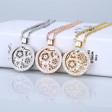 35mm mi moneda coin pendant stainless steel locket necklace fit 33mm coin holder woman girl fashion jewelry crystal rose gold
