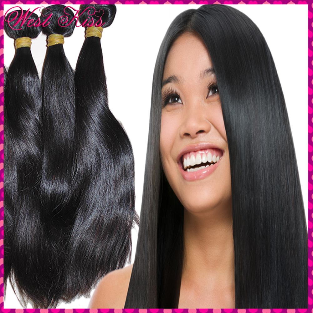 Top Beauty 8A Unprocessed Virgin Cambodian Bouncy Straight Human Hair Wefts 3pcs/lot (300g) bundles Deal High Compliment(China (Mainland))