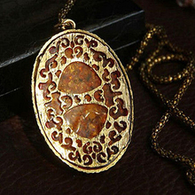 Buy Arrived Women's Vintage Amber Tone Hollow Long Chain Drop Pendant Sweater Necklace A2W5 for $1.45 in AliExpress store