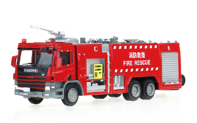 KDY 1/50 Fire-extinguishing Water Tanker Diecast Truck Model Recovery Vehicle Gifts Christmas(China (Mainland))