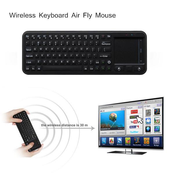 Mini 2.4G USB Wireless Keyboard Air Fly Mouse Touchpad Remote Contorl for Mini PC Android TV Box(China (Mainland))