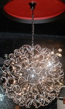 Free shipping new modern spiral design chandelier crystal lights chrome large home lighting Dia100*H250cm lustre crystal lamps(China (Mainland))