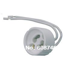 NEW GU10 Ceramic Sockets, Halogen, LED Bulb, Lamp Holder Down Light Fitting Base Free shipping(China (Mainland))