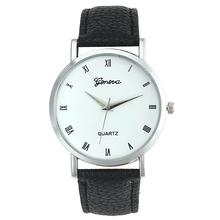 2015 mens watches top brand luxury Casual Geneva Faux Leather watches men  Glass Quartz Watch Male Watches