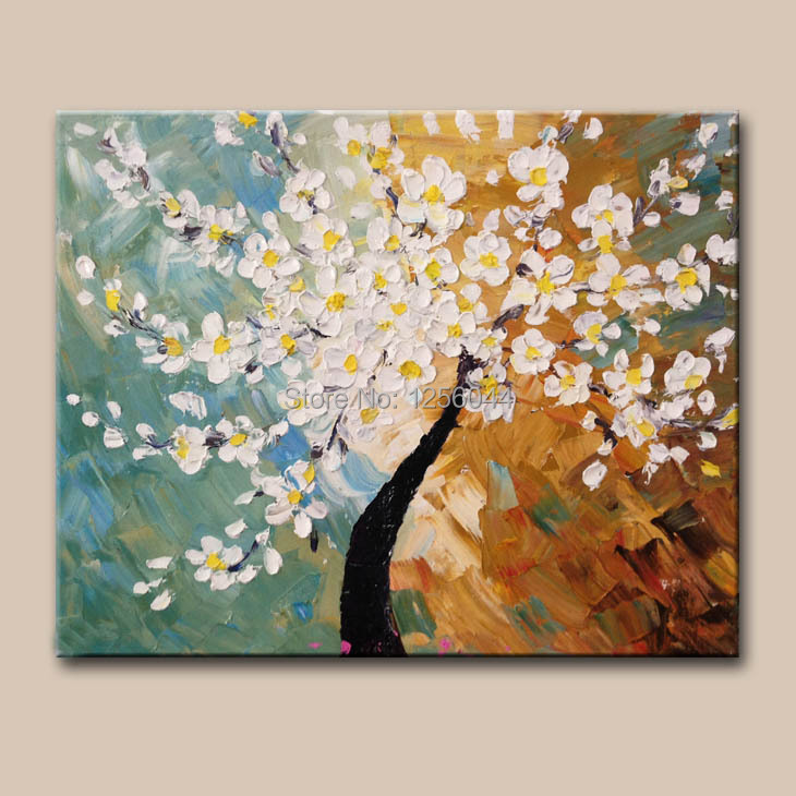 free shipping flower knife oil painting high quality 100