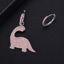 Ensembles de collier de boucles d'oreilles asymétriques roses belle Animal pour les femmes bijoux de fiançailles de mariage(China)