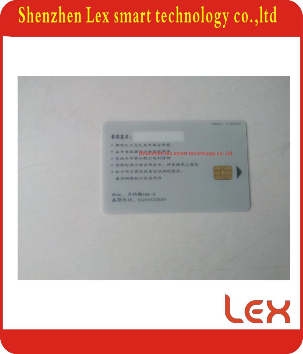 iso7816 at24c16 contact ic chip card(China (Mainland))