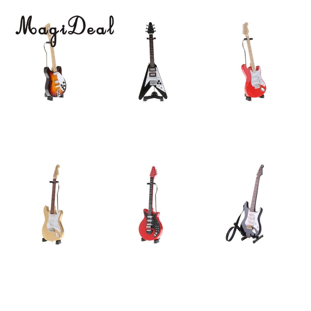 1//6 Miniature Wooden Guitar Toy Dollhouse Instrument Action Figure Accessory