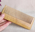 Natural green sandalwood hair brush anti static comb anti hair loss massage curls straight hair retro