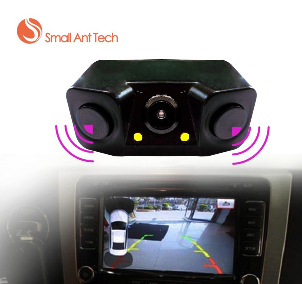 Universal Car Video Parking Sensors Bi Bi Alarm with Rear camera + 2 Sensor Video Display Indicator Car Reverse Sensor free ship(China (Mainland))