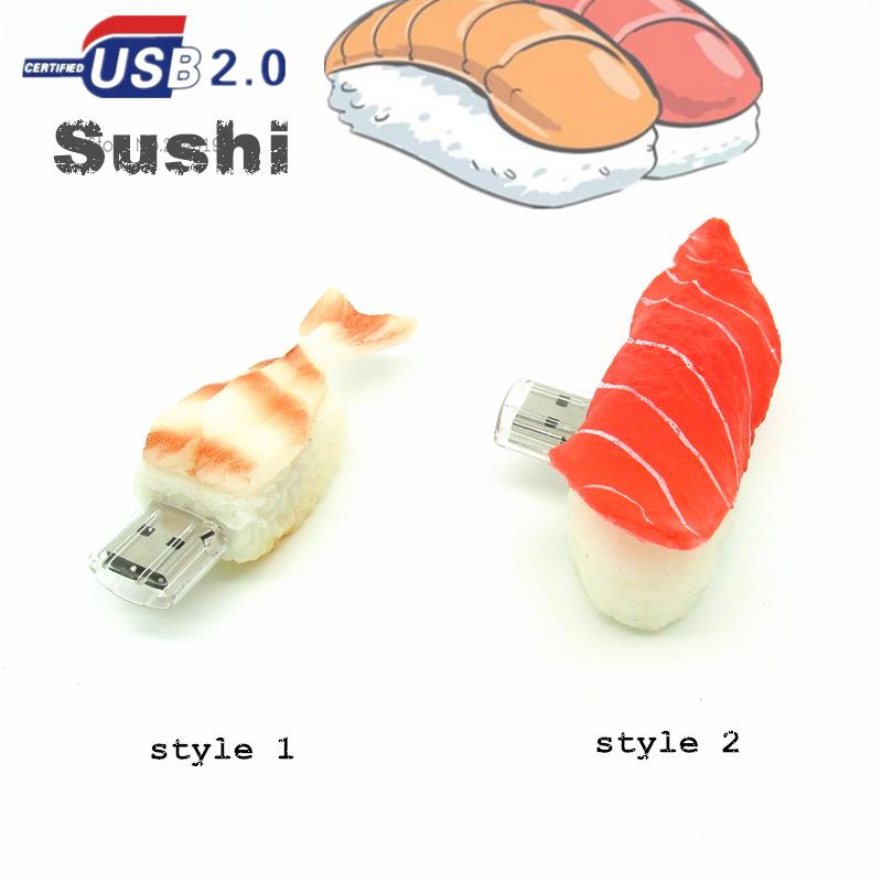 new arrival Sashimi usb flash drive 4G/8G/16G/32G Japanese food model sushi Pen Drive Disk Flash Memory Stick usb best gift(China (Mainland))