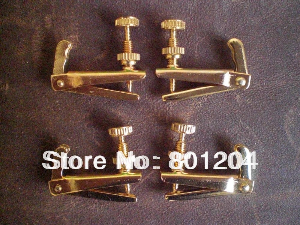 Brand new GOLD COLOR Violin fine tuners 100pcs 3/4 TO 4/4 size<br><br>Aliexpress