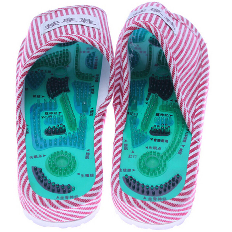 Acupuncture Massage Slipper Shoes Reflexology Health Body Care Chinese Taichi Sandal Foot Walking Feet Healty Body