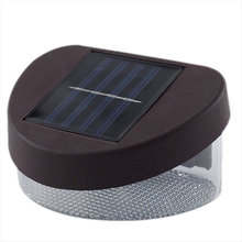 Solar Power 2LED Light Wall Landscape Mount String White Lamp Garden Outdoor Direct Selling (China (Mainland))