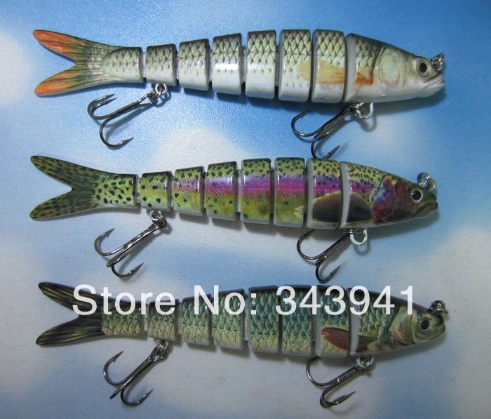 8 Sections Fishing Lure Swimbait Hard Bait Crankbait Fresh & Shallow Water Fishhook Bass Tackle - discover fun store
