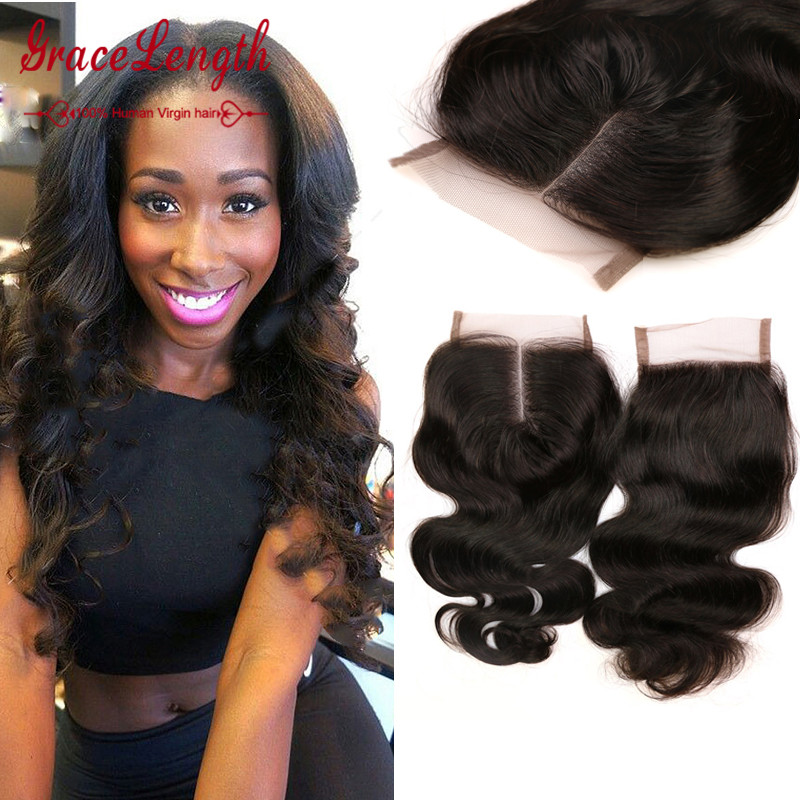 Гаджет  TOP 6A Virgin Peruvian Lace Closure Body Wave Free Middle Part Human Hair Closure Peruvian Body Wave Lace Closure Bleached Knots None Волосы и аксессуары