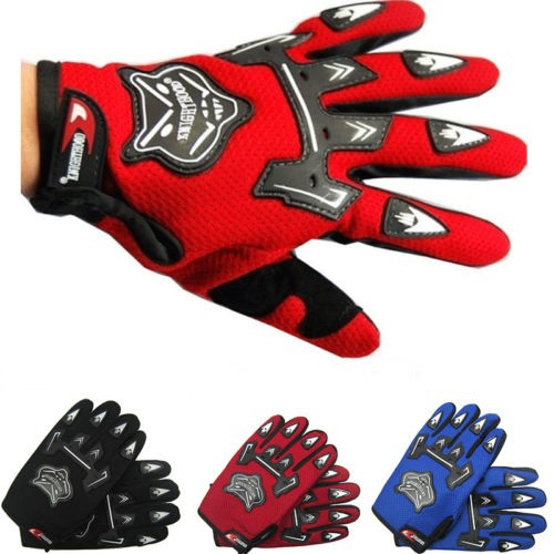Off Road Racing Motorcycle Motorbike Gloves Motocross Full Finger Gloves BMX ATV Breathable Mesh Fabric Protective