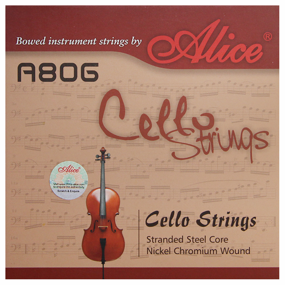 Alice A806 Nickel Chromium Wound Cello String Stranded Steel Core Nickel Chromium Wound Nickel-Plated Ball-End(China (Mainland))