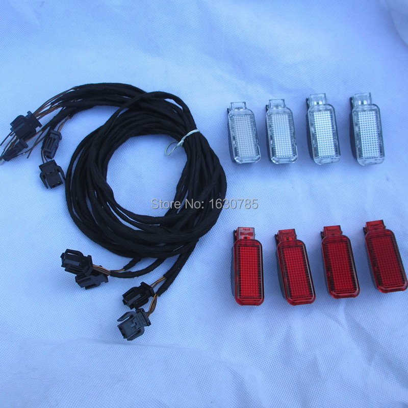8Pieces Set New Door Warning Lights For AUDI A3 A4 A5 A6 A7 A8 Q3 Q5 8KD 947 411 *4 \  8KD 947 415C  * 4<br><br>Aliexpress