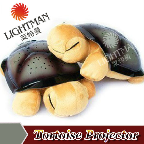 30pcs/lot Turtle Light musical music play sleep lamp tortoise starry sky projector lamps/ 4 Colors 4 Songs Star Lamp(China (Mainland))