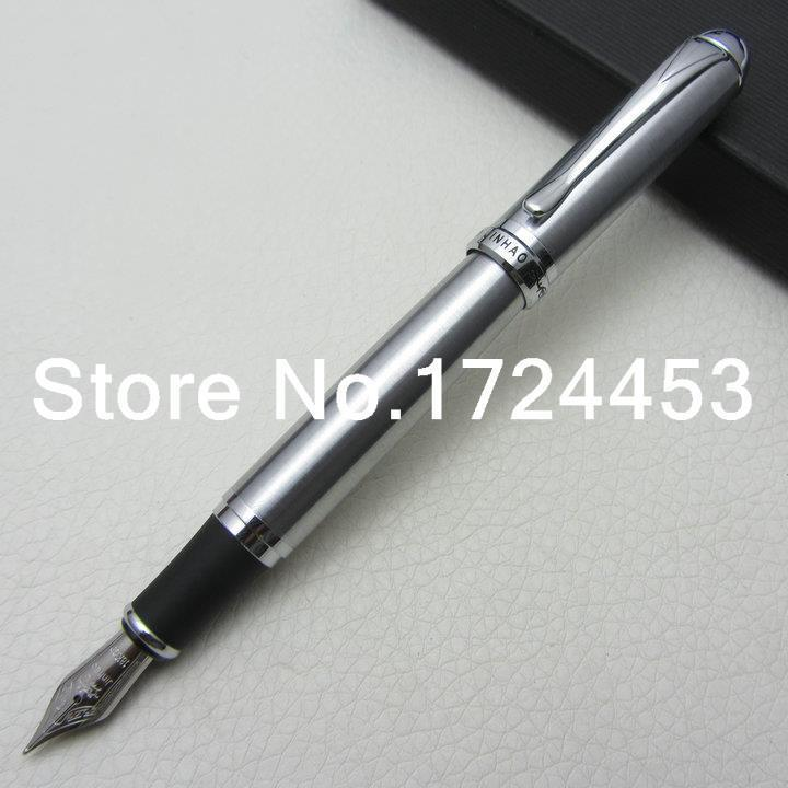 JINHAO Executive Silver B Nib Fountain Pen with gift box J1078