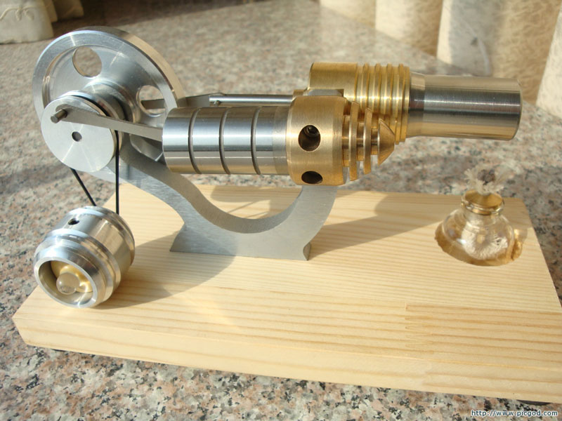 New Hot Air Stirling Engine Generator Motor Model with LED Light S02011(China (Mainland))