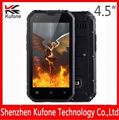 original IP68 rugged Waterproof phone Quad Core 4.5'' Android 5.0 1GB+8GB 13MP GPS dust phone smartphone Kufone F5 Ultra Thin(China (Mainland))