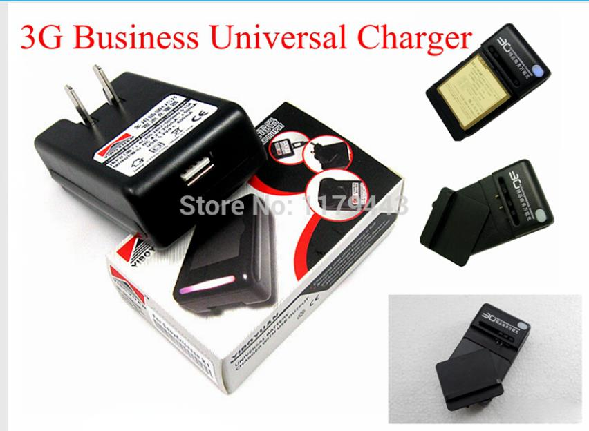 2PCS/lot 360 degree rotation 3G Business Battery universal charger With USB Port Output For HTC Thunderbolt 4g 6400 Verizon(China (Mainland))
