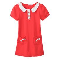 2013Freeshipping Spring summer yellow green blue red Children child Girl Kids baby cotton tutu dress clothes clothing PFXZ41P22