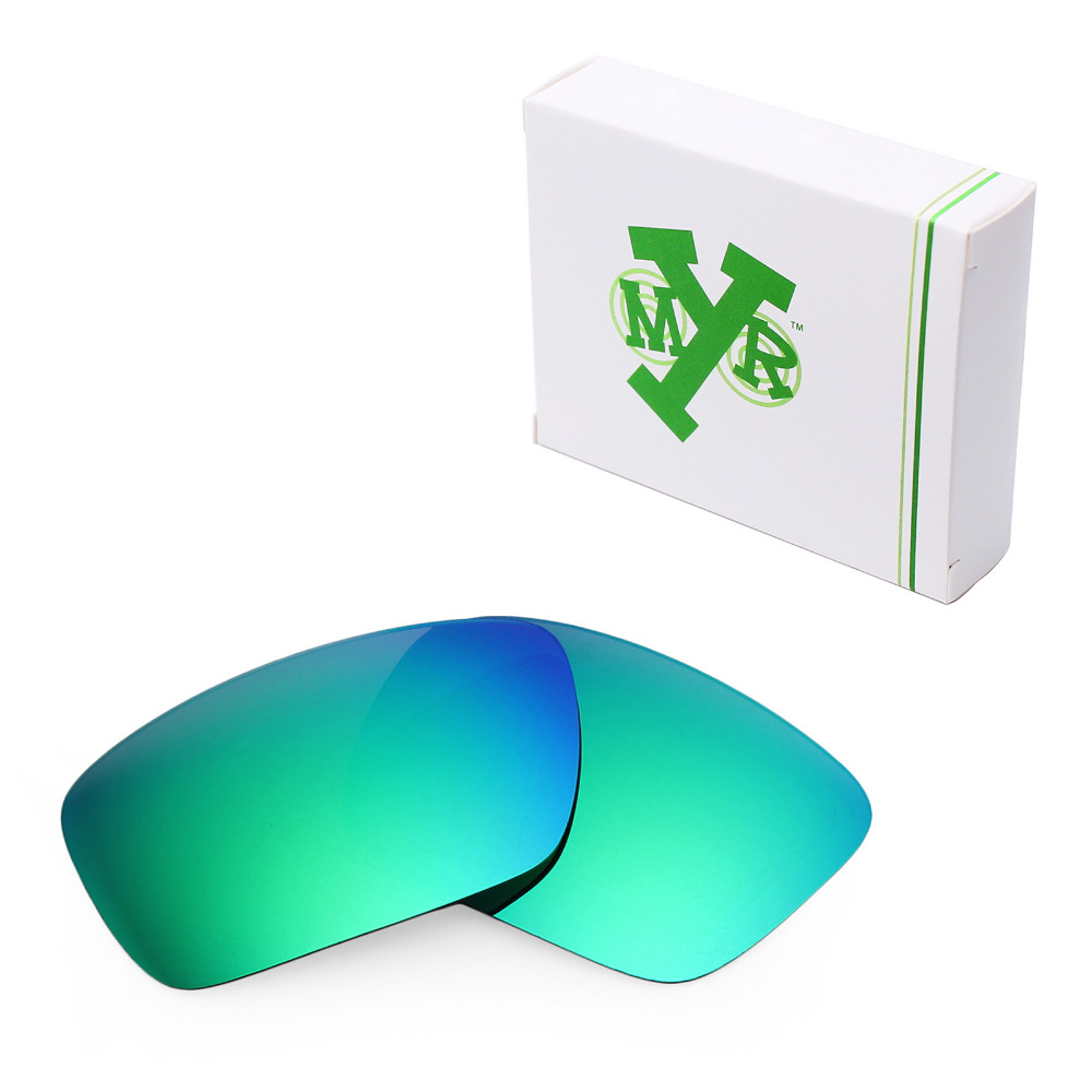 MRY POLARIZED Replacement Lenses for Oakley Fuel Cell font b Sunglasses b font Emerald Green
