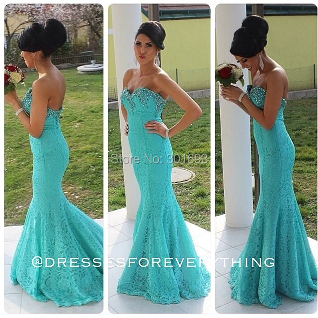 Online Get Cheap Turquoise Lace Prom Dresses -Aliexpress.com ...