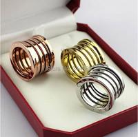 Gorgeous 100% Titanium Steel womens wide wedding and engagement enamel jewelry rings set  OLL306