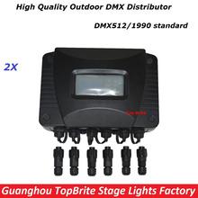 Buy Free 2XLot New Outdoor Waterproof DMX Distributor Stage Lights Signal Amplifier Splitter DJ Disco Lighting Equipments for $285.36 in AliExpress store