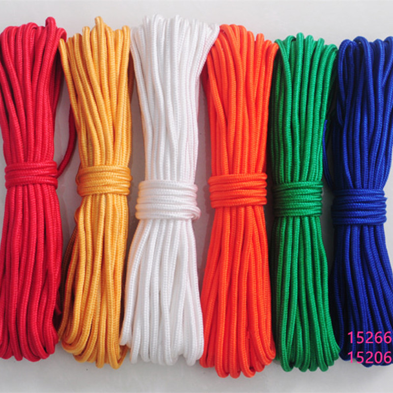 50m Braided Tent Rope Polyester Cord Clothesline Tied The Rope Multicolor Decoration Line Yoga On The Rope(China (Mainland))