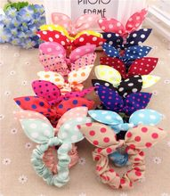 Buy 10Pcs/Lot Mix Style Clips Hair band Polka dot leopard trip hair rope Rabbit Ears Headwear Hair tie girl hair accessories for $1.30 in AliExpress store