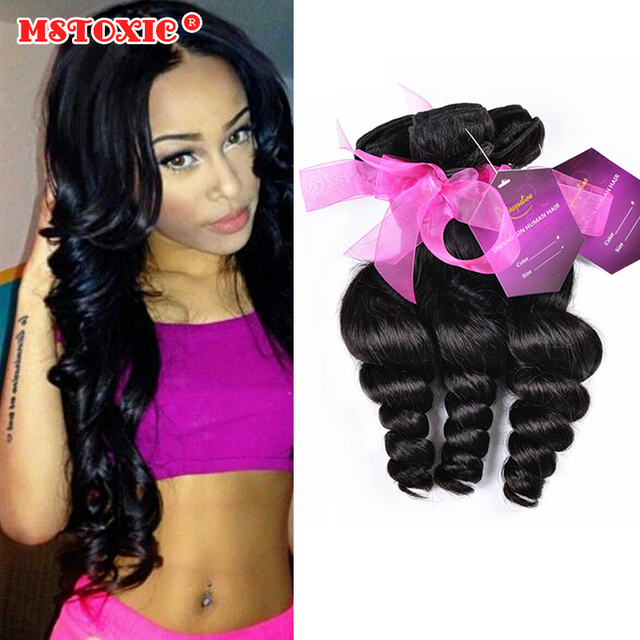 6a new star hair product 4 pcs lot extension malaysian loose wave unprocessed weaves bundles mstoxic hair no tangle