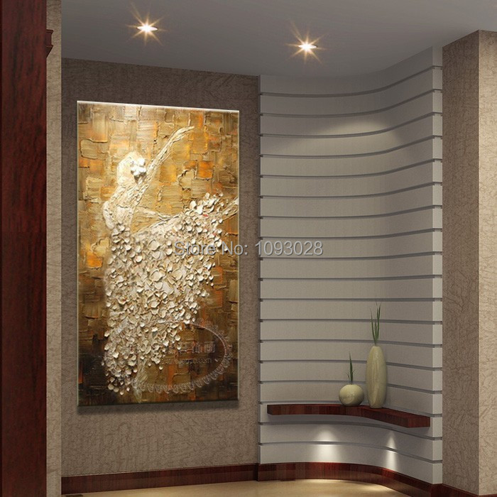 Wholesale cheap oil PaintingsOn canvas ballet abstract painting the living room wall decoration free shipping(China (Mainland))