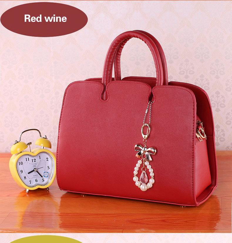 Fresh Style Ladylike PU Leather Handbag Women Fashion New Elegant Bag Fashion Sweet Style Shoulder Bag Ladies High Quality Bag