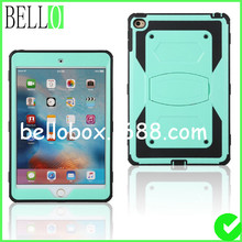 New Heavy Duty armor stand with Protective Double Color Shock Proof Cover case For Apple mini 4 With Belt Clip(China (Mainland))