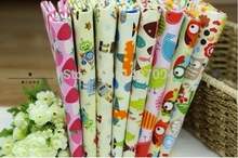 100% Cotton Fabric forsize 50*50cm Total 8pcs in One package with Cute Design for cloth art DIY Free Shipping(China (Mainland))