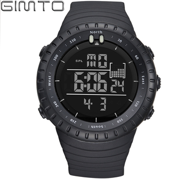 Fashion Men Digital LED Sports Watches GIMTO Dive Military S Shock Watch Men Waterproof Outdoor Wrist watches Relogio Masculino