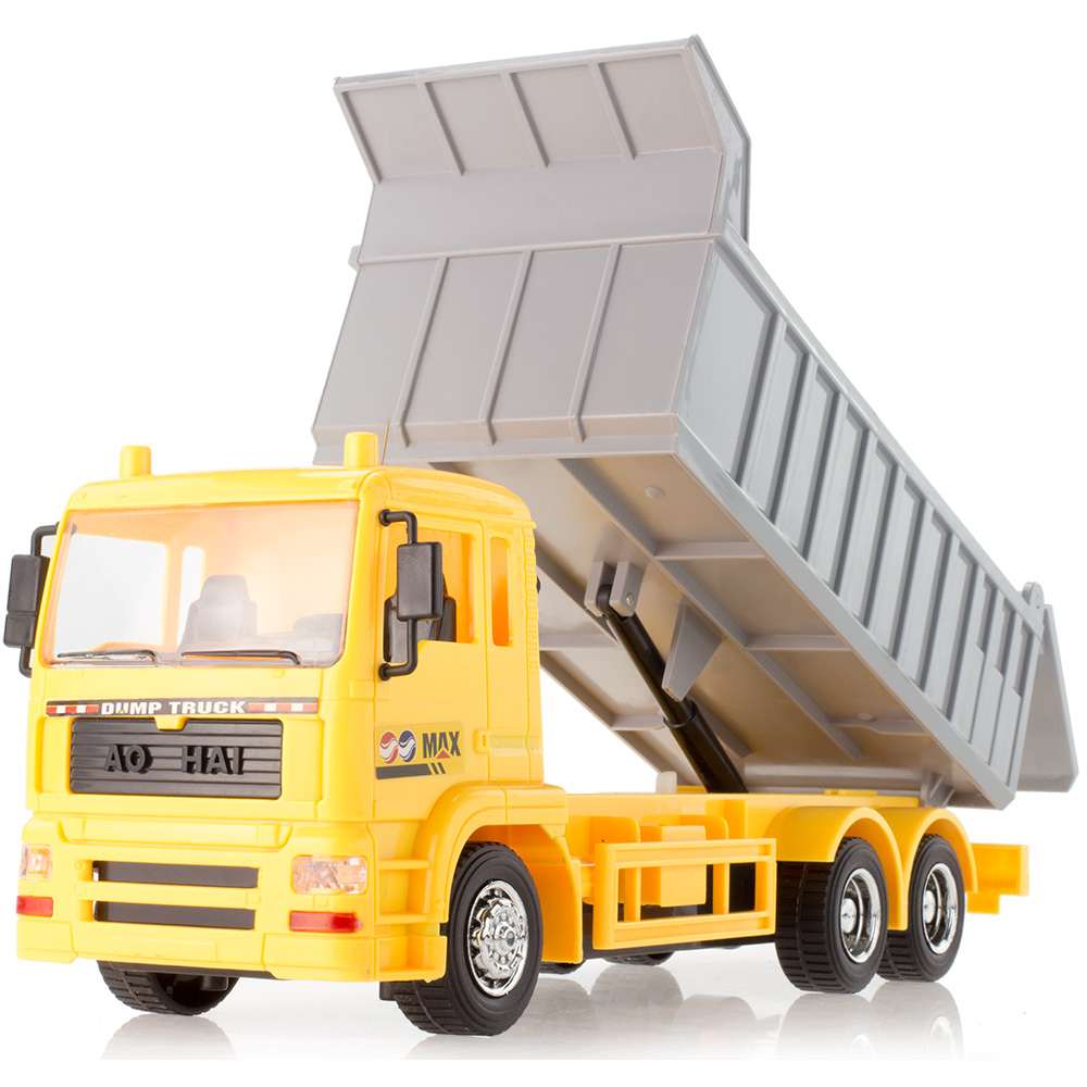 Hot sale remote control dump truck rc engineering car electric remote control car best toy car clay transport vehicle model(China (Mainland))