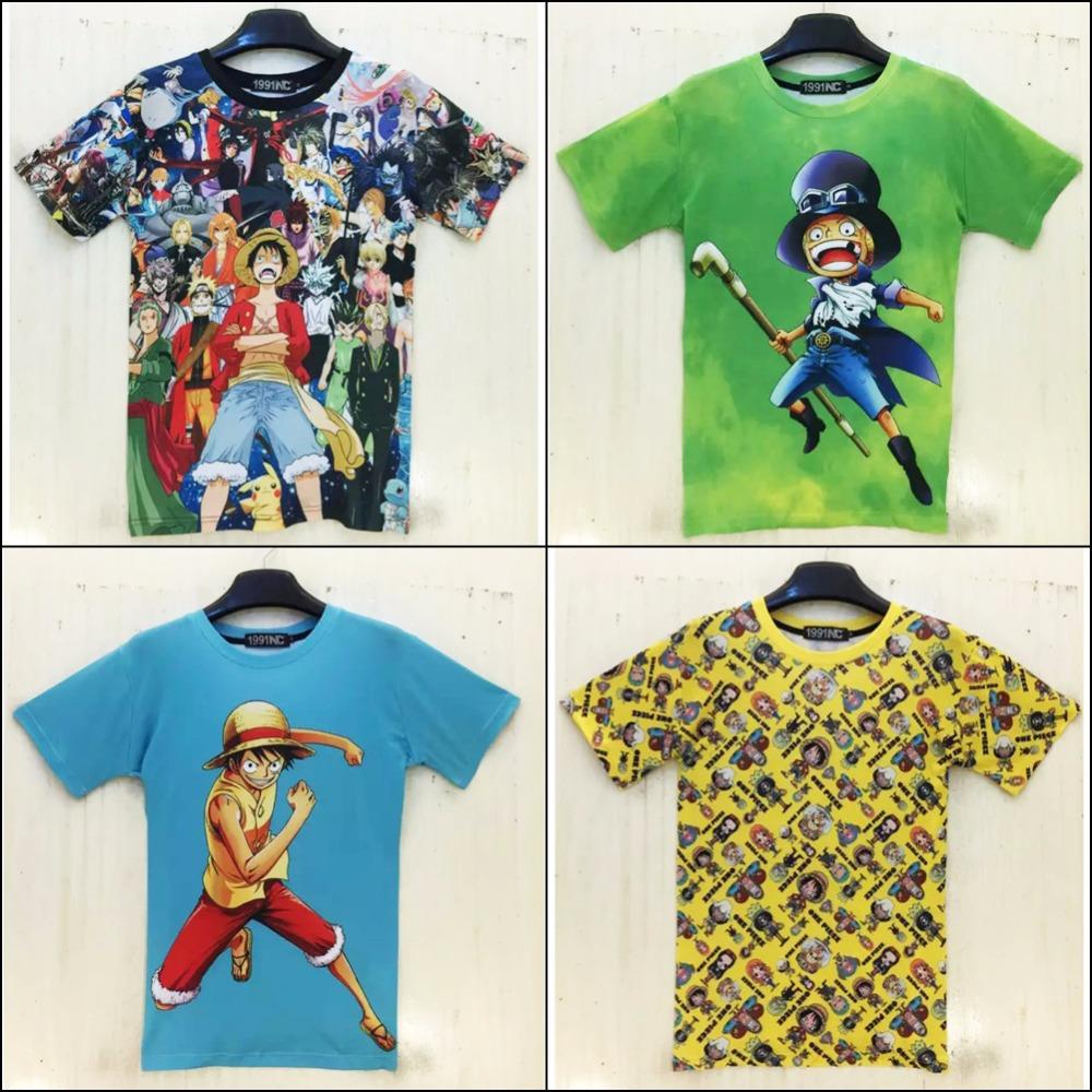3D funny t shirts graphic print cartoon anime One Piece Pokemon luffy short sleeve casual tops tee shirt for men/women(Hong Kong)