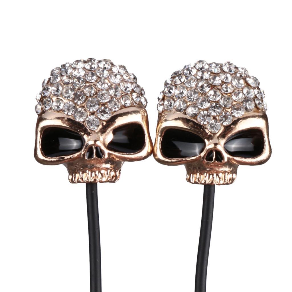 Mobile Phone Diamond Skull Earphones Fashion Headphones To Ear Ecouteur Headphone Auriculares Stereo Audifonos Headset Earbuds(China (Mainland))