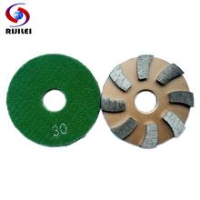 (3JKP) 3inch Metal grinding pads 80mm Metal diamond polishing pads day or wet rough grinding concrete floor polishing pad(China (Mainland))